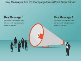 Key Messages For Pr Campaign Powerpoint Slide Clipart