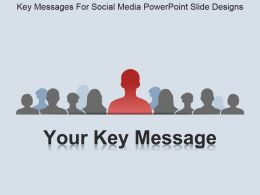 Key Messages For Social Media Powerpoint Slide Designs