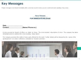 Key Messages Immediate Release Ppt Powerpoint Presentation Example File