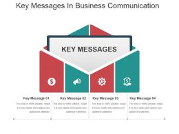 Key Messages In Business Communication Powerpoint Slide Designs