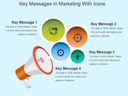 Key Messages In Marketing With Icons Powerpoint Slide Graphics
