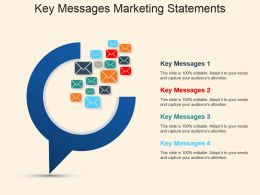 Key Messages Marketing Statements Powerpoint Slide Influencers