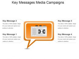 Key Messages Media Campaigns Powerpoint Slide Information