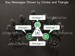 Key Messages Shown By Circles And Triangle