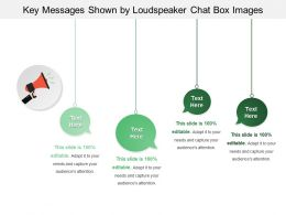 Key Messages Shown By Loudspeaker Chat Box Images
