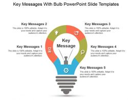 Key Messages With Bulb Powerpoint Slide Templates