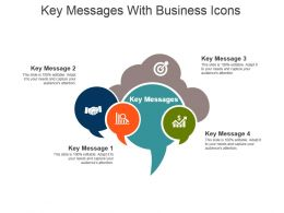 Key Messages With Business Icons Powerpoint Slide Themes
