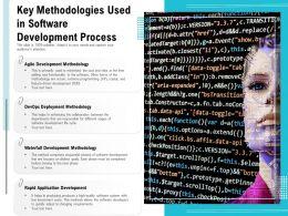 Key Methodologies Used In Software Development Process