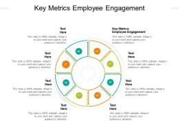 Key Metrics Employee Engagement Ppt Powerpoint Presentation Styles Icon Cpb