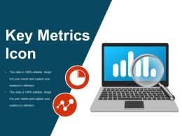 Key Metrics Icon Sample Of Ppt