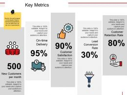 Key Metrics Powerpoint Slide
