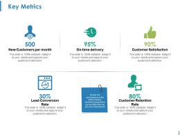 Key Metrics Ppt Design Templates