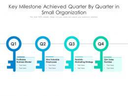 Key Milestone Achieved Quarter By Quarter In Small Organization