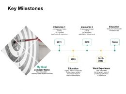 Key Milestones Activities Ppt Powerpoint Presentation Professional Images