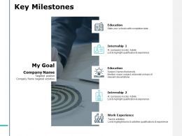 Key Milestones Education Ppt Powerpoint Presentation File Icon