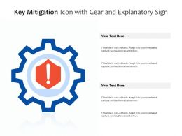 Key Mitigation Icon With Gear And Explanatory Sign