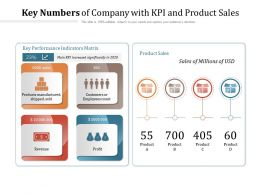 Key Numbers Of Company With KPI And Product Sales