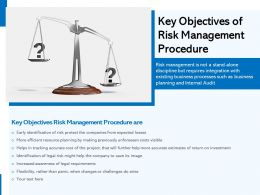 Key Objectives Of Risk Management Procedure