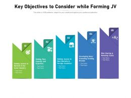 Key Objectives To Consider While Forming JV
