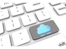 Key Of Cloud Computing Stock Photo