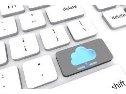 Key Of Cloud Computing Stock Photo