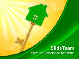 Key Of Home Real Estate Powerpoint Templates Ppt Themes And Graphics 0313