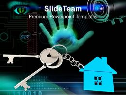 Key Of House Security Business Powerpoint Templates Ppt Themes And Graphics
