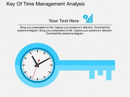 Key Of Time Management Analysis Flat Powerpoint Design