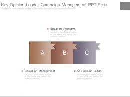 Key Opinion Leader Campaign Management Ppt Slide