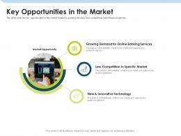 Key Opportunities In The Market Investment Pitch To Raise Funds From Mezzanine Debt Ppt Brochure