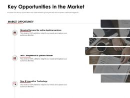 Key Opportunities In The Market Less Competition Ppt Powerpoint Presentation Smartart