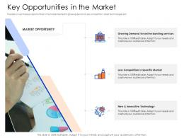 Key Opportunities In The Market Mezzanine Capital Funding Pitch Deck Ppt Infographic