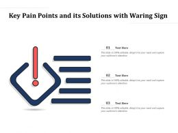 Key Pain Points And Its Solutions With Warning Sign