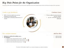 Key Pain Points For The Organization Flow Statement Ppt Powerpoint Icon