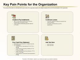 Key Pain Points For The Organization Pay Installments Ppt Powerpoint Tips