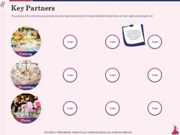 Key Partners Catering Ppt Powerpoint Presentation Professional Demonstration