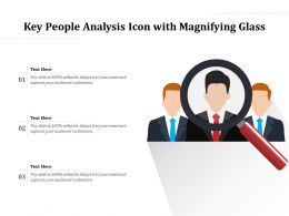 Key People Analysis Icon With Magnifying Glass