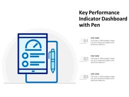 Key Performance Indicator Dashboard With Pen