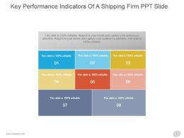 Key Performance Indicators Of A Shipping Firm Ppt Slide