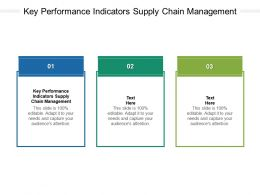 Key Performance Indicators Supply Chain Management Ppt Powerpoint Example Cpb