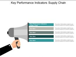 Key Performance Indicators Supply Chain Ppt Powerpoint Presentation Inspiration Cpb
