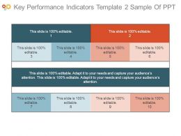 Key Performance Indicators Template2 Sample Of Ppt