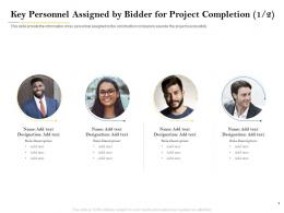 Key Personnel Assigned By Bidder For Project Completion Designation Ppt Elements