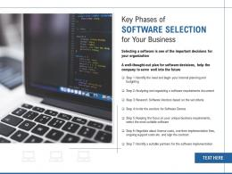 Key Phases Of Software Selection For Your Business