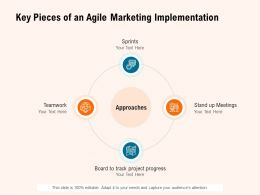 Key Pieces Of An Agile Marketing Implementation Approaches Ppt Slides