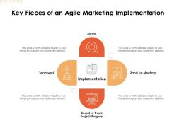 Key Pieces Of An Agile Marketing Implementation Ppt Powerpoint Slides