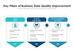 Key Pillars Of Business Data Quality Improvement