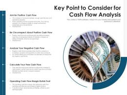 Key Point To Consider For Cash Flow Analysis