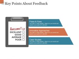 Key Points About Feedback Ppt Examples Professional