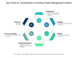 Key Points For Consideration To Develop Project Management